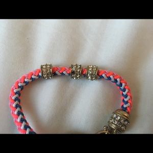 J. Crew Jewelry - J Crew Rope / Beaded Rhinestone Bracelet
